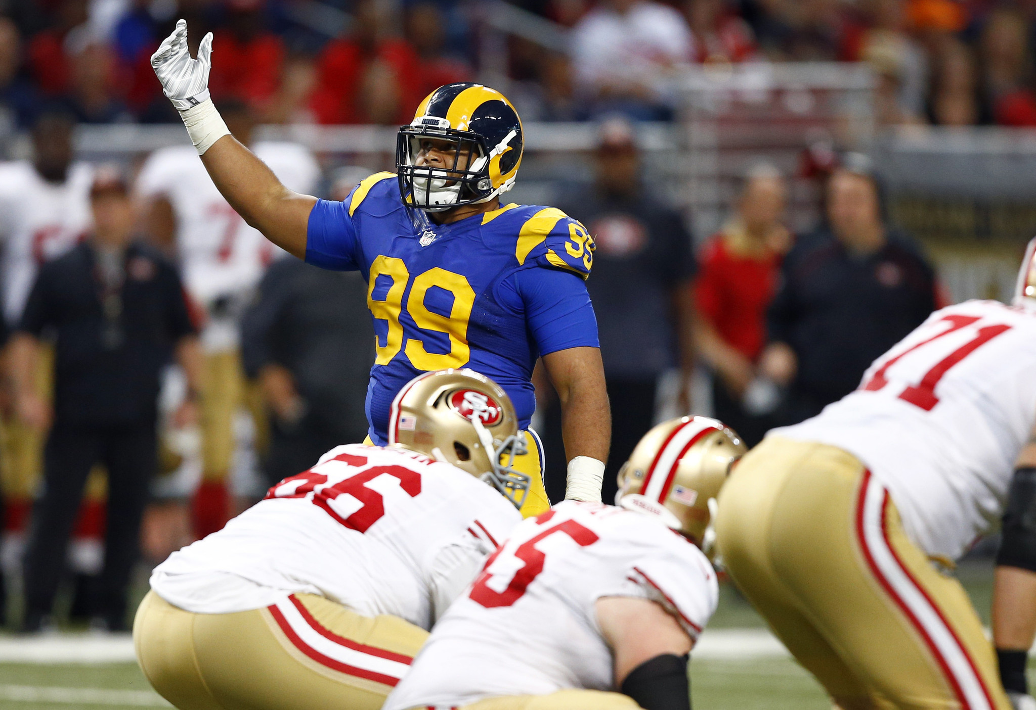 Bears wanted Rams Aaron Donald but couldn t to him fast