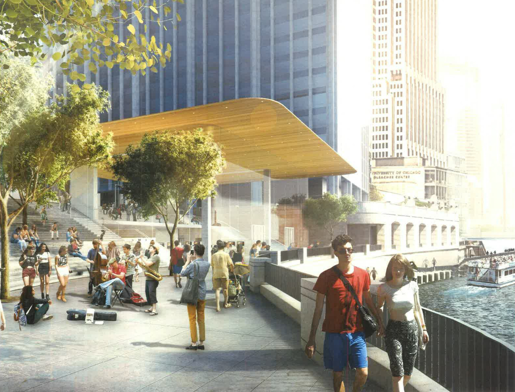 Exclusive Look At New Apple Store On The Chicago River Chicago - New apple store in chicago will have a giant macbook as its roof