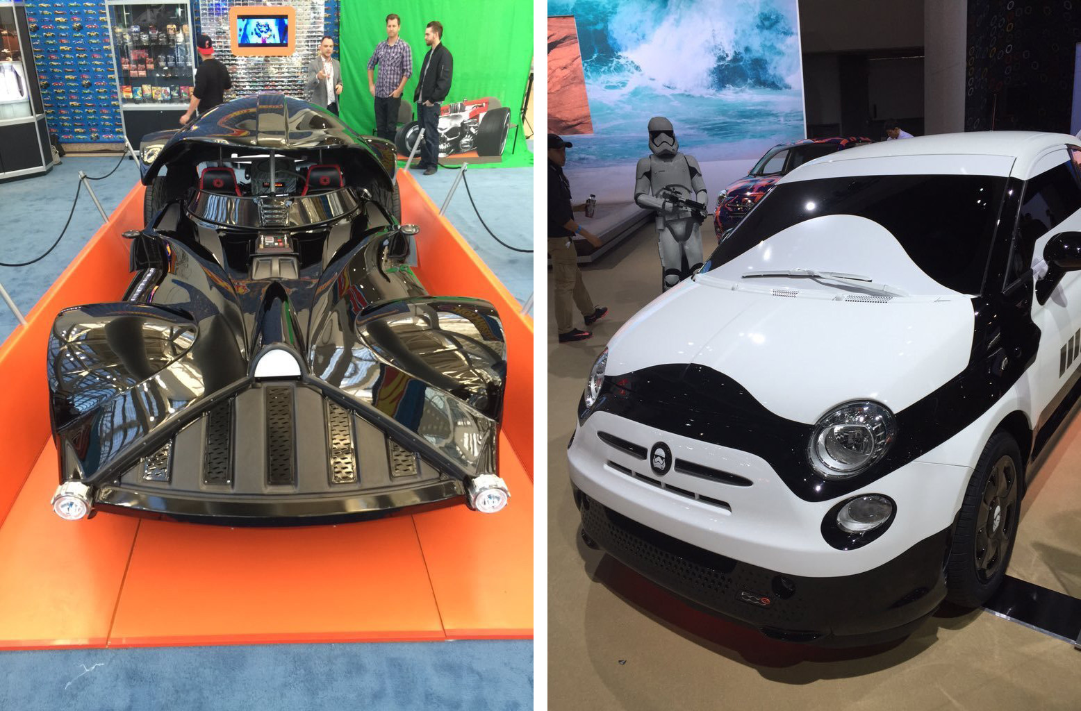 star wars toy cars and weird suv convertibles highlights from the 2015 l a auto show. Black Bedroom Furniture Sets. Home Design Ideas