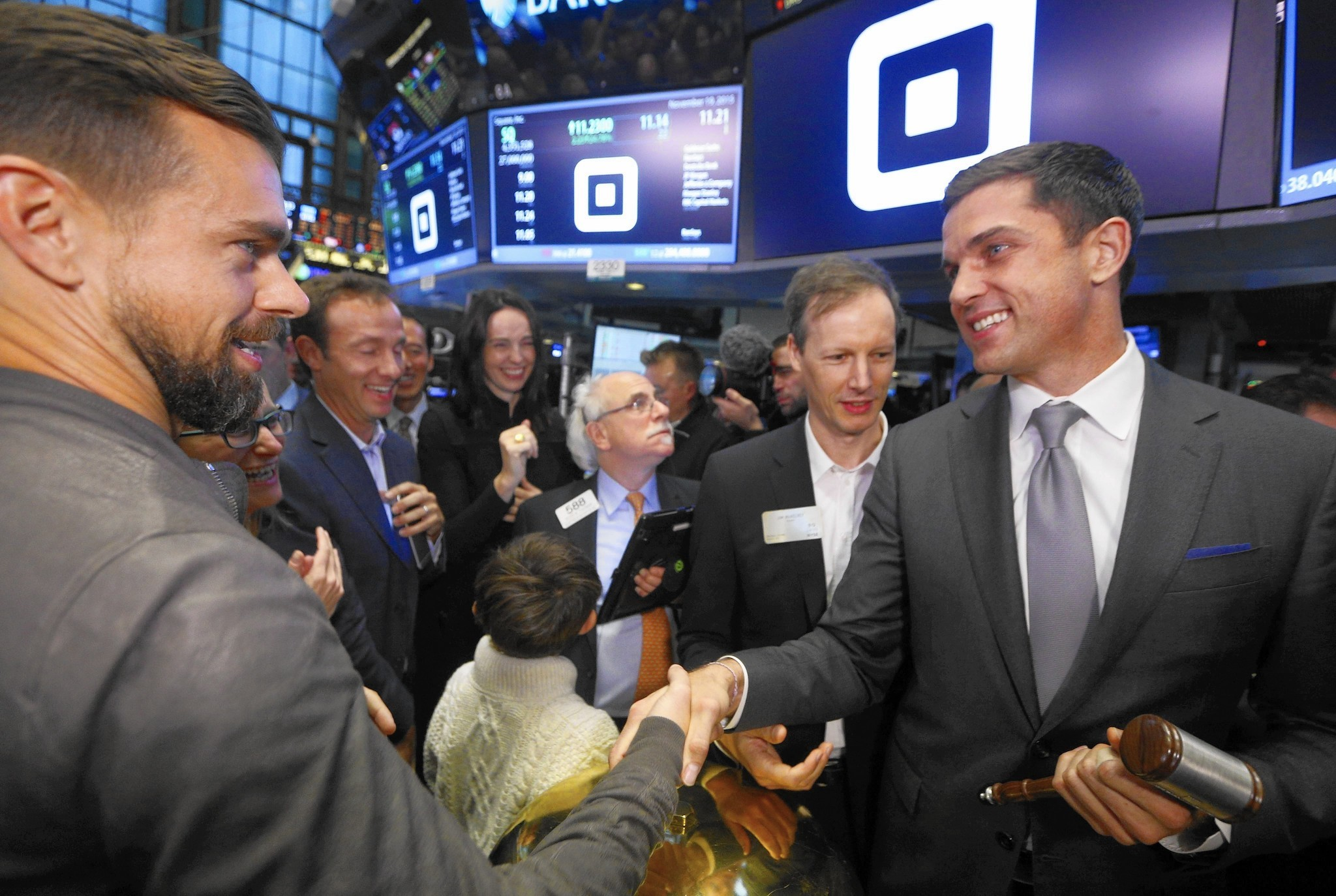 square shares soar 45 in market debut match u0027s ipo goes well too