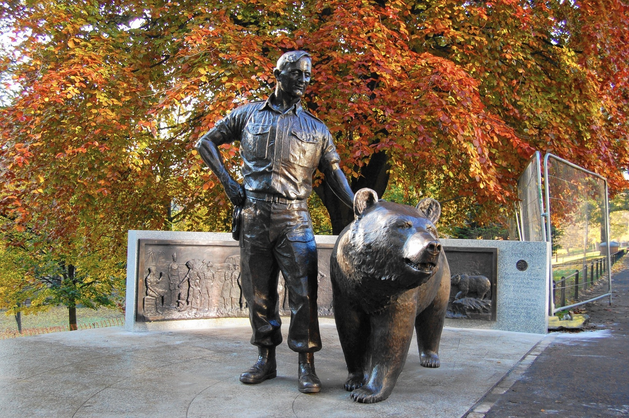 wojtek polands wwii fighting bear honored with