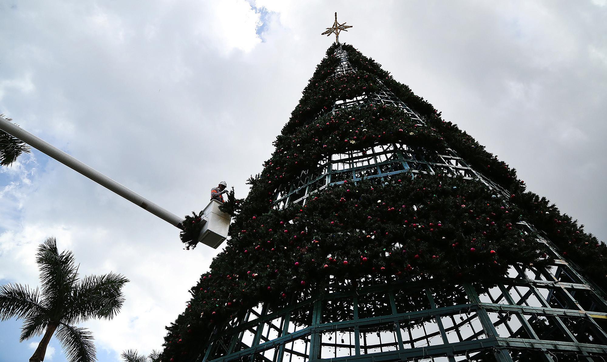 Delray kicks off monthlong holiday activities with tree lighting