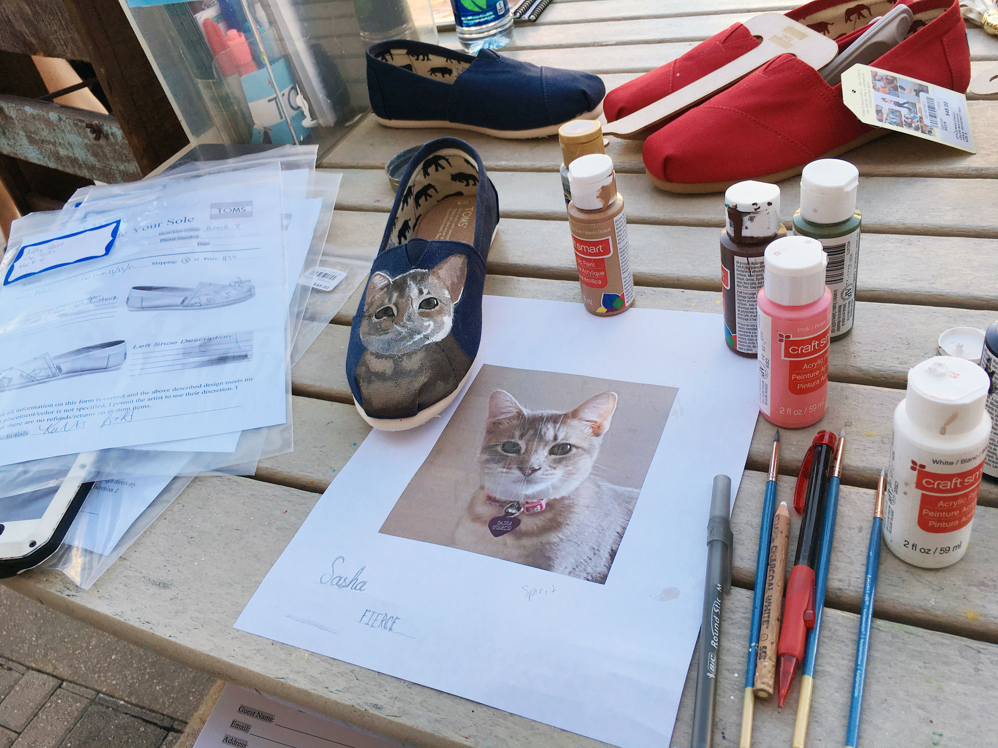 personalized toms shoes available about disney springs orlando sentinel