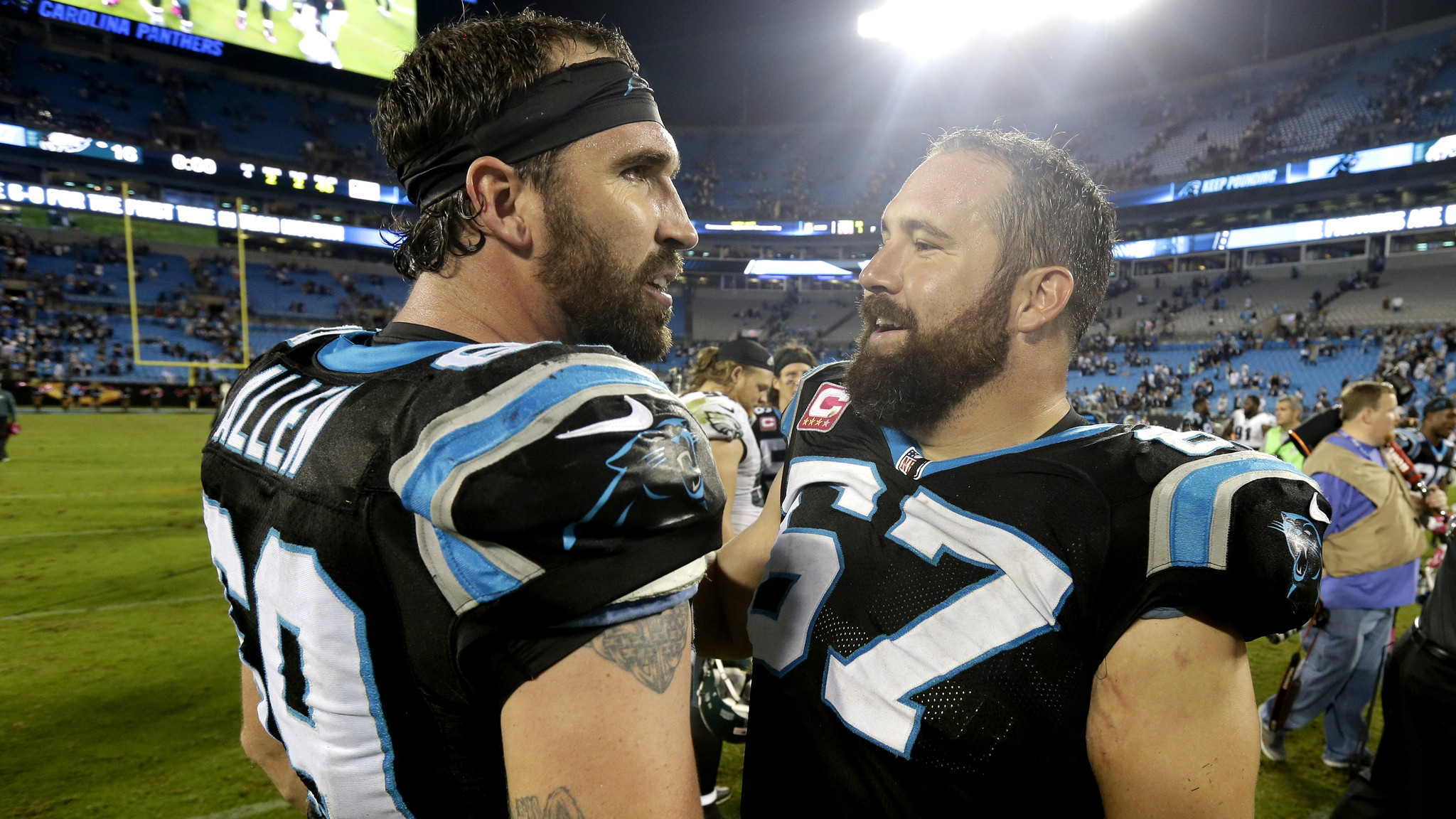 Ryan Kalil modestly does his job of helping the Carolina Panthers