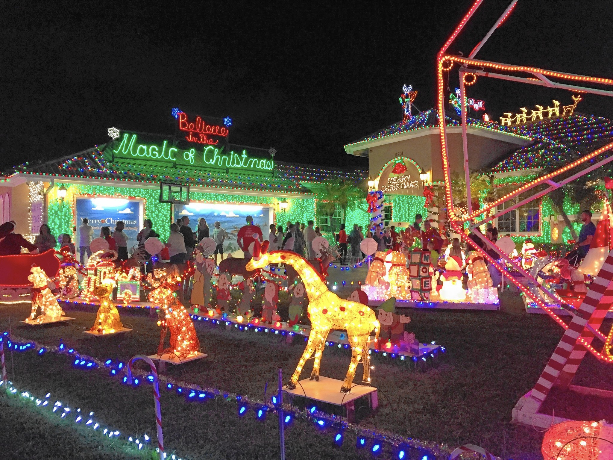massive plantation christmas display lights up the neighborhood
