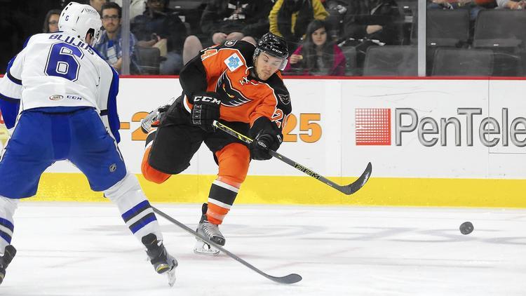 AHL: Petr Straka, Tyrell Goulbourne Score Twice As Phantoms Beat Bears In Shootout