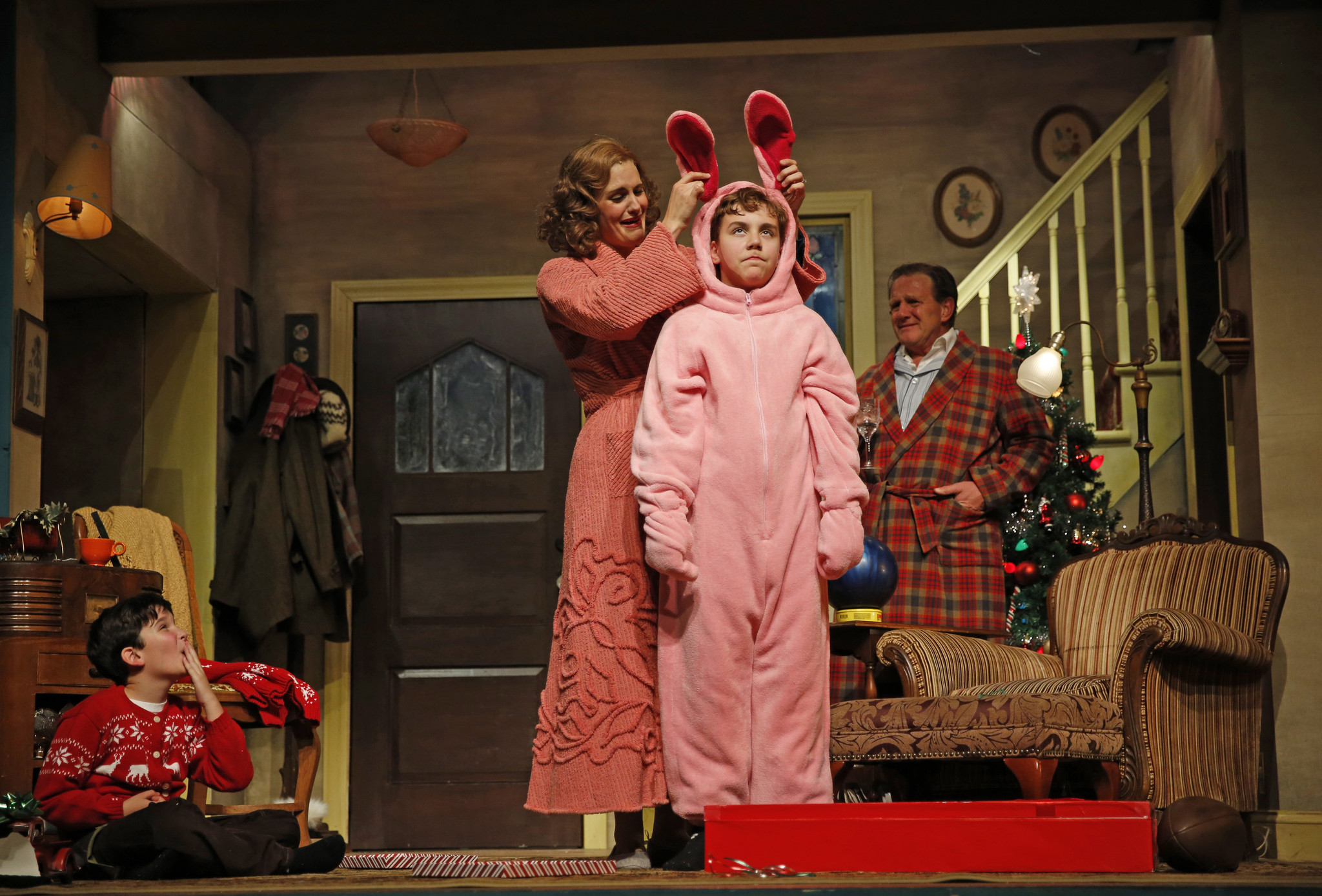 review christmas story the musical laughs and loves in aurora chicago tribune - What Channel Is A Christmas Story On
