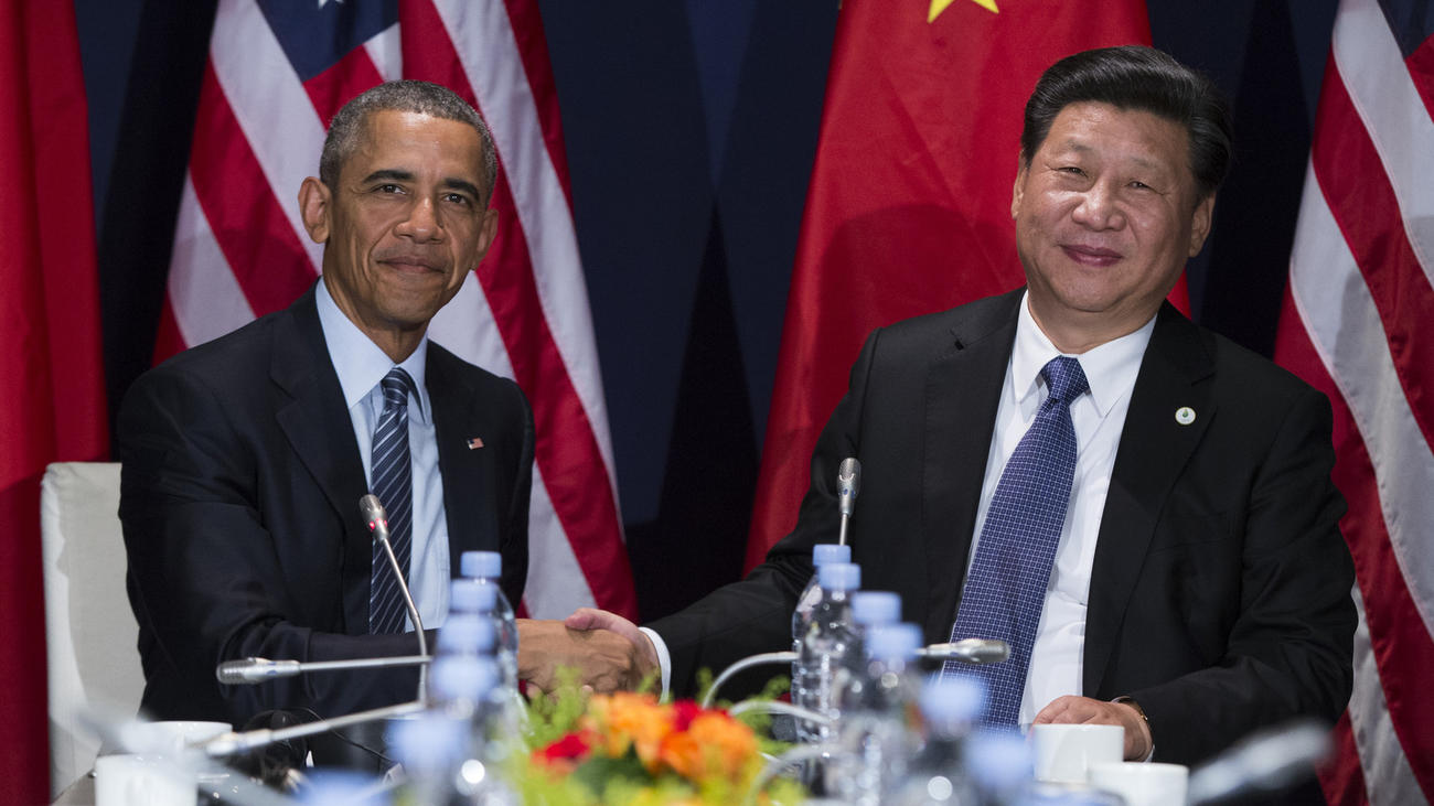 President Obama meets with Chinese President Xi Jinping during the United Nations climate change summit on Nov. 30. (Evan Vucci / Associated Press)