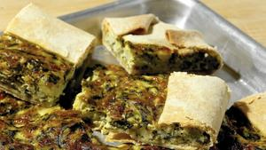 Swiss chard and potato crostata