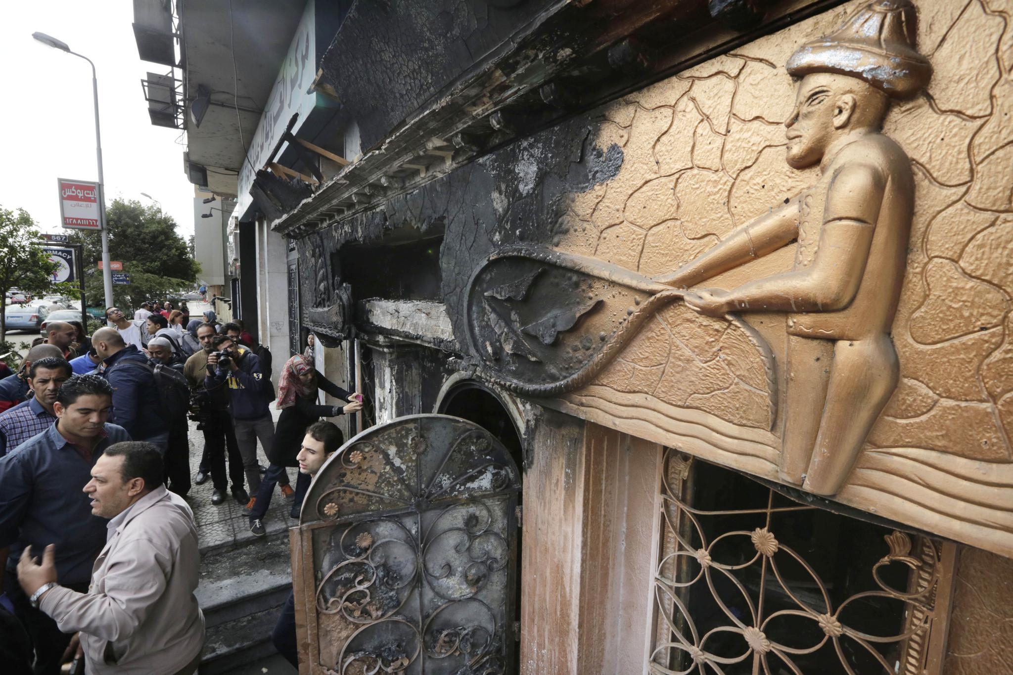 Egypt: 16 killed in firebomb attack on Cairo nightclub