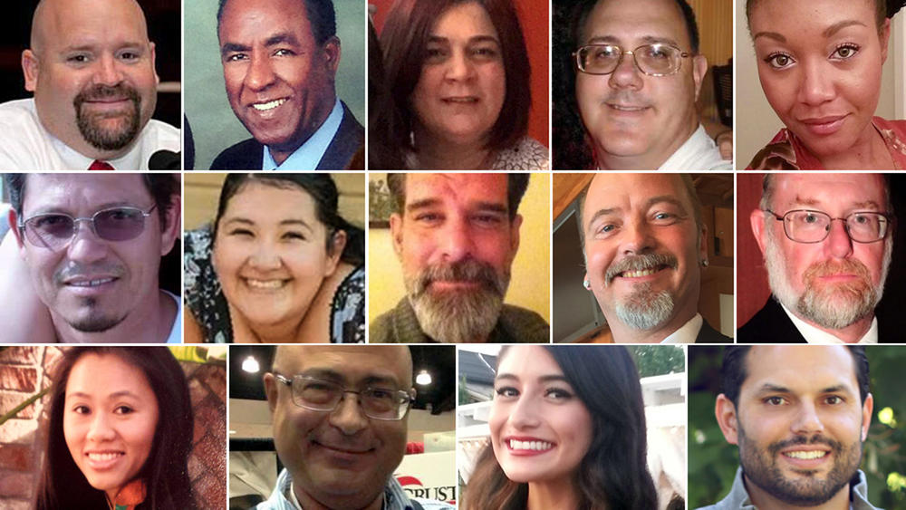 A composite photo of all 14 victims from the San Bernardino shooting rampage. ()