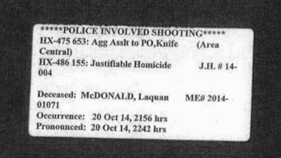 PDFs: Laquan McDonald police reports