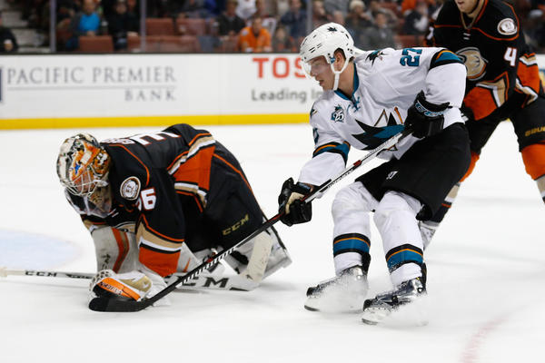 John Gibson Is Focused When He Has To Be As The Ducks Defeat The Sharks, 1-0