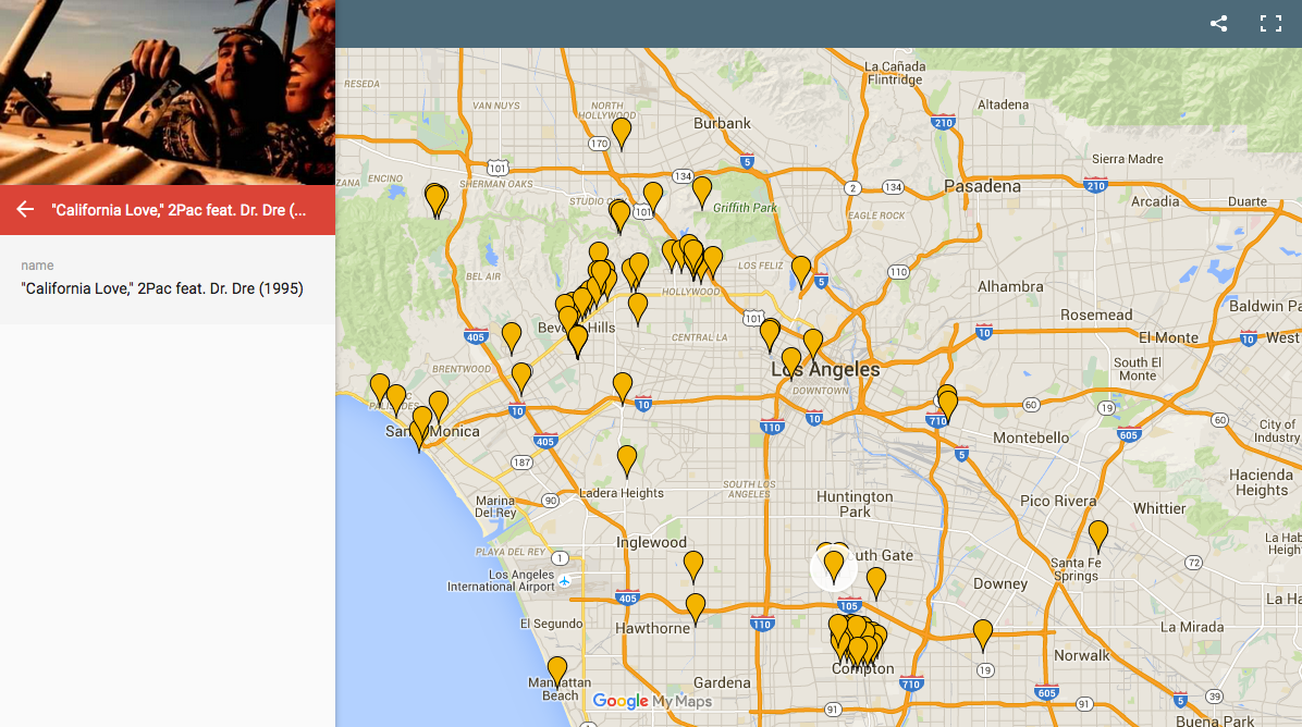 Straight Outta Compton What Mapping LA Through Its Music - Los angeles map silver lake