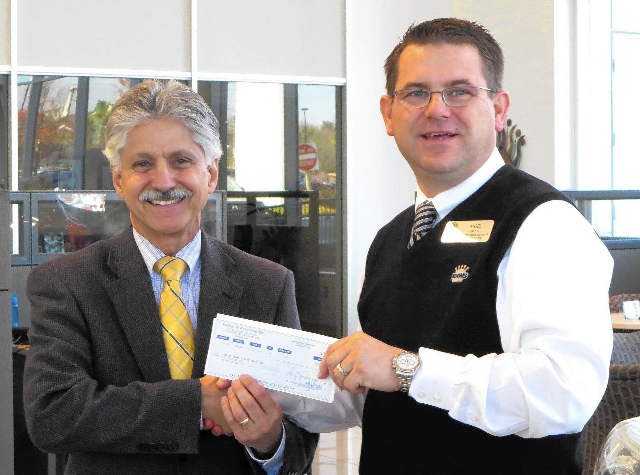 Koons toyota donates to target community educational services carroll county times