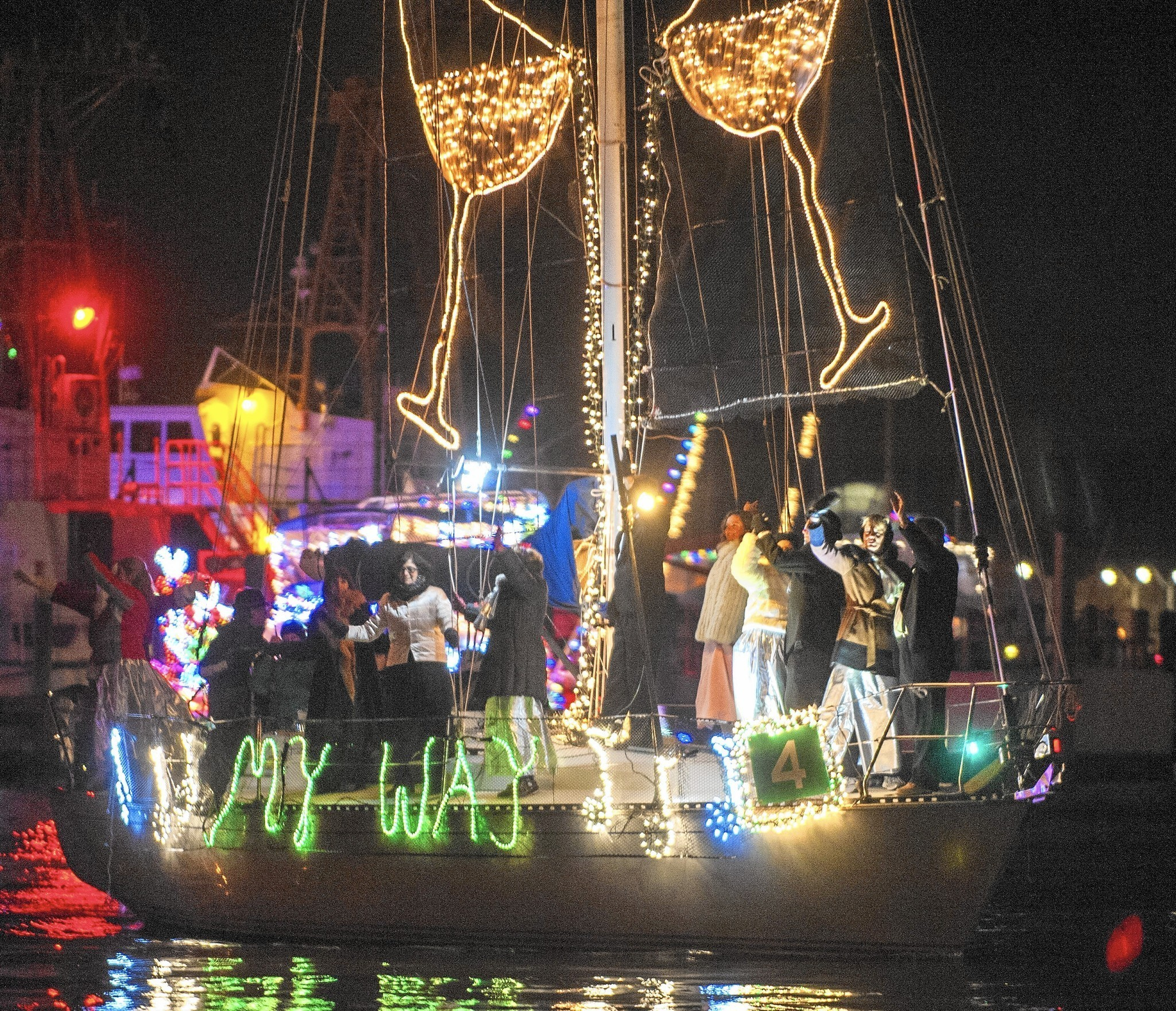 christmas on the waterfront eastport yacht club lights parade sails into town capital gazette