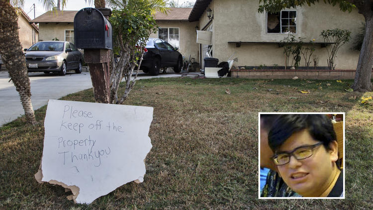 Home in Riverside where Marquez lived next door to Farook. (Los Angeles Times)