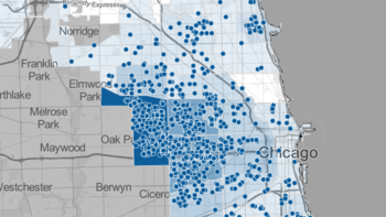 Map: Chicago shooting victims in 2015