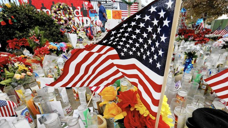 Memorial to the San Bernardino massacre victims grows