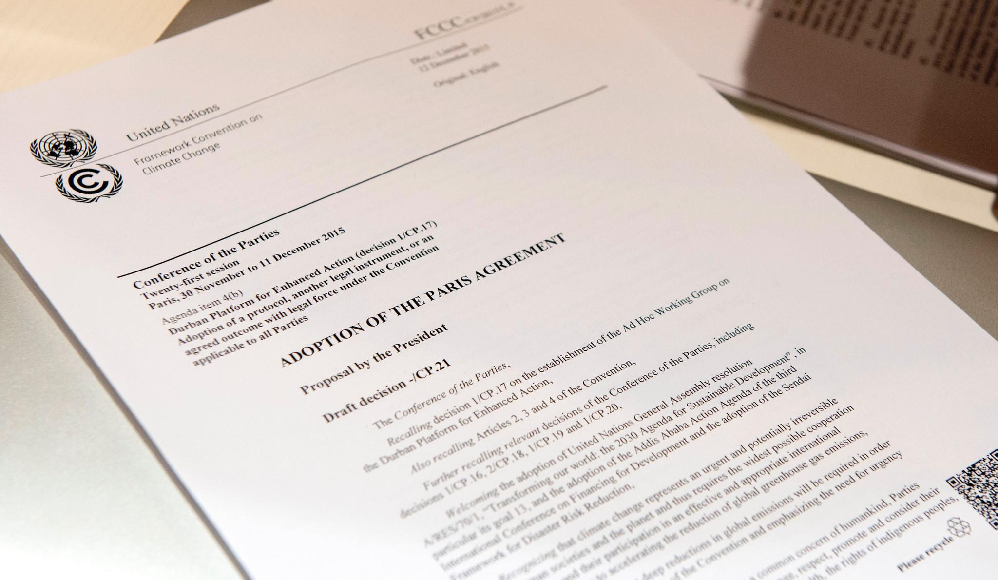 Key points of the landmark Paris agreement