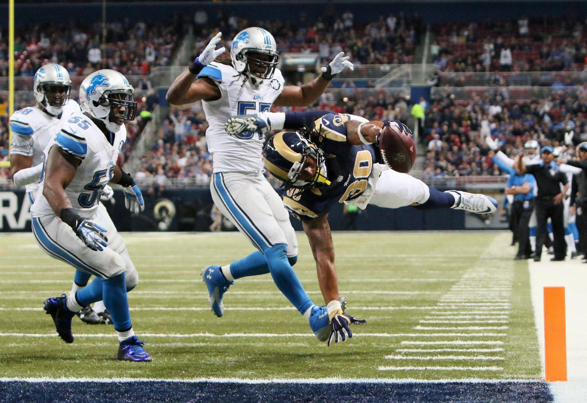 Todd Gurley Rams break 5 game slump with 21 14 win over Lions