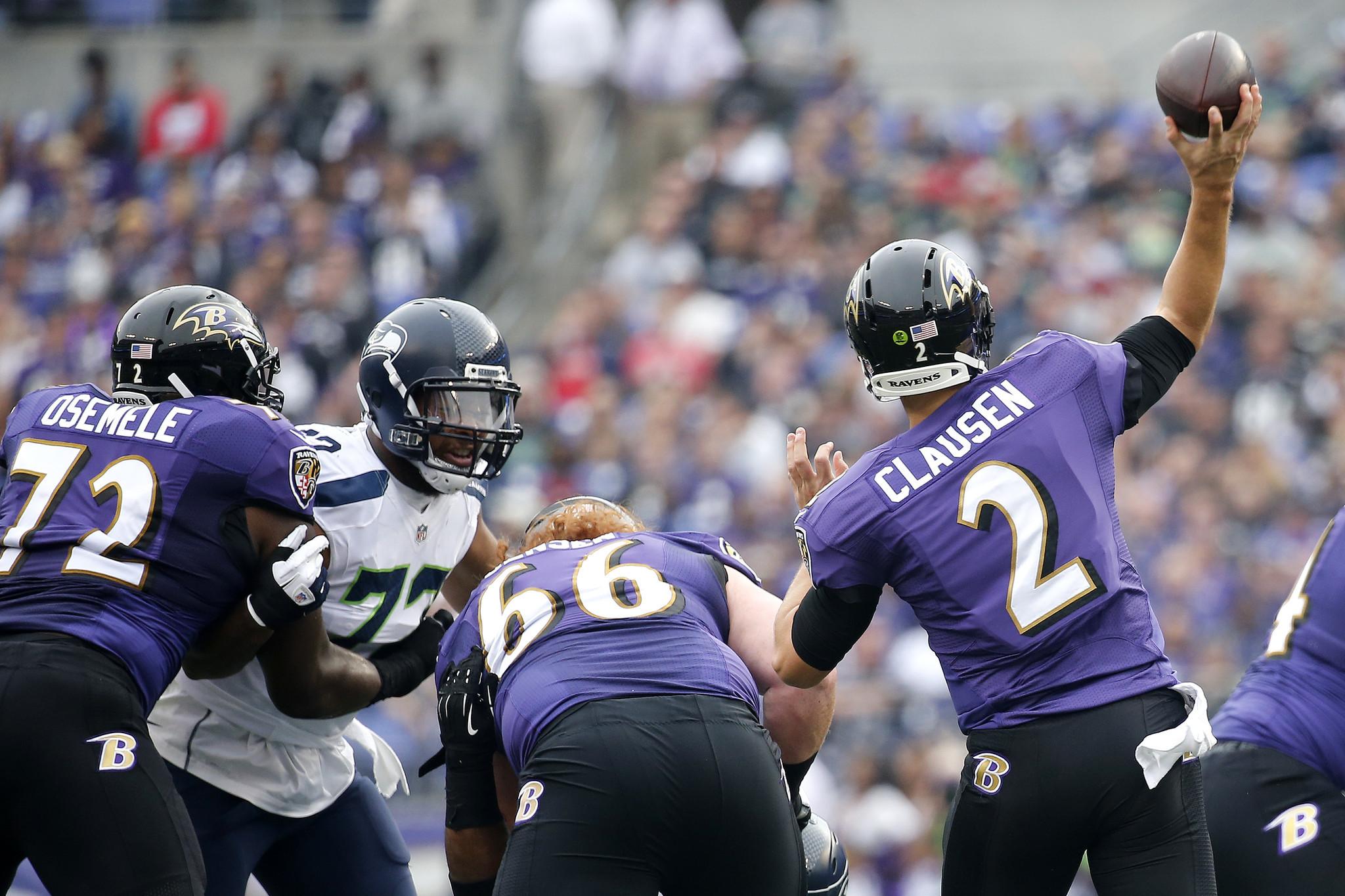 Ravens lineman Kelechi Osemele makes NFL debut at left tackle