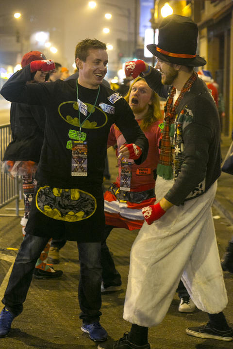 The 20th annual Twelve Bars of Christmas in Wrigleyville on Saturday, December 12, 2015. (Brittany Sowacke for RedEye)