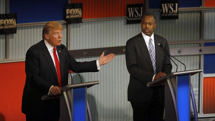 Donald Trump, Ben Carson and other presidential hopefuls might want to reconsider their campaigns in the wake of a study that says elected heads of state have lower life expectancies than the people who lose elections. (Morry Gash / Associated Press)