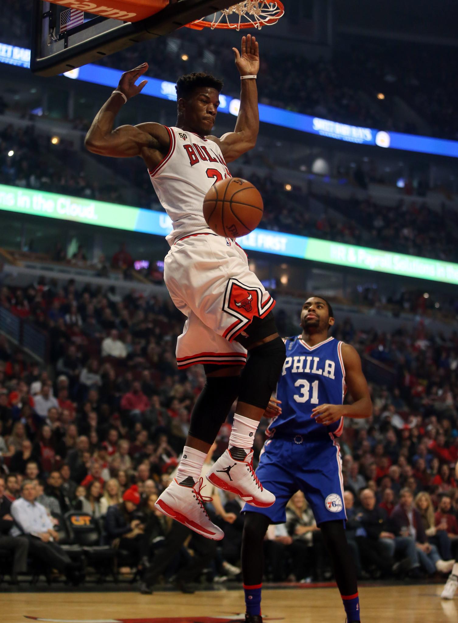 Jimmy Butler throwing down a dunk - Chicago Bulls