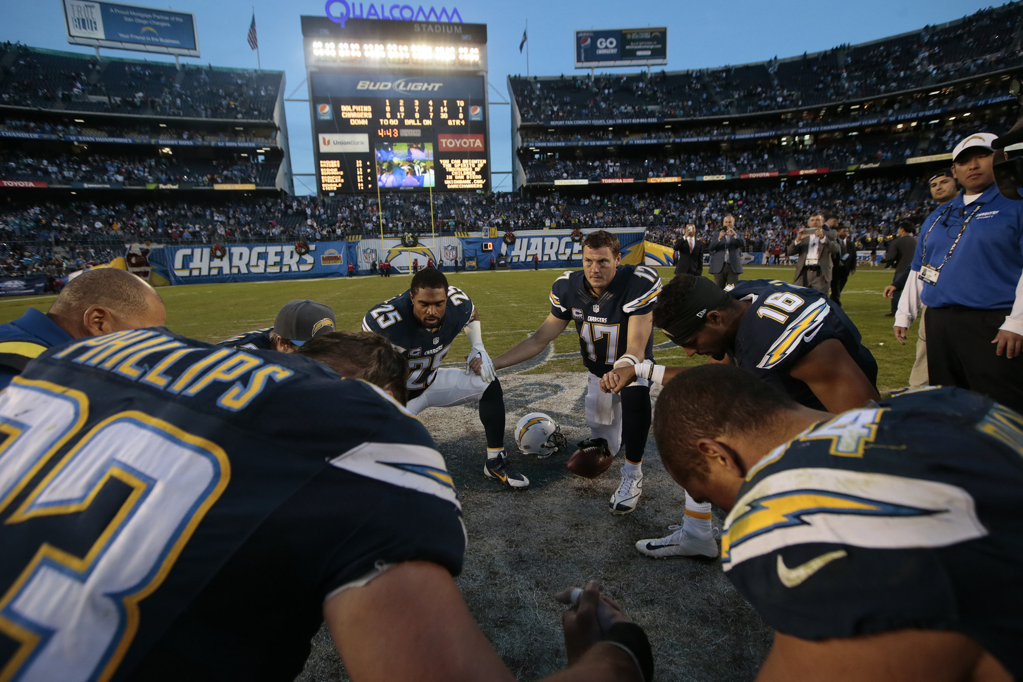 Chargers final home game?