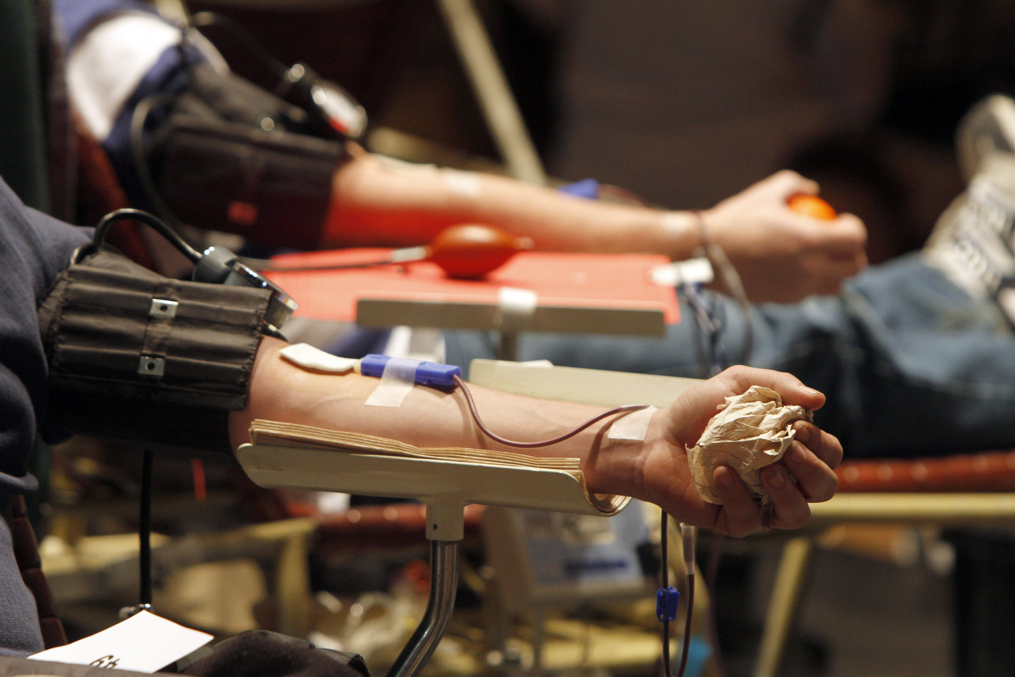 The Senate voted to no longer make it a felony for HIV-positive people to donate blood or semen without telling the blood bank they are infected. (Toby Talbot / Associated Press)