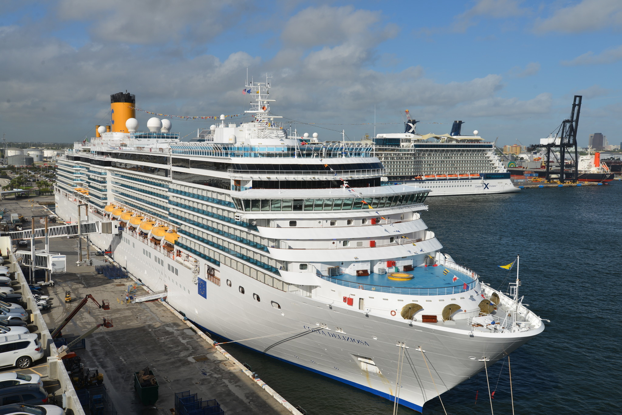 A Costa Cruises Cruise Ship Returns To Port Everglades After 4-year Hiatus - Orlando Sentinel