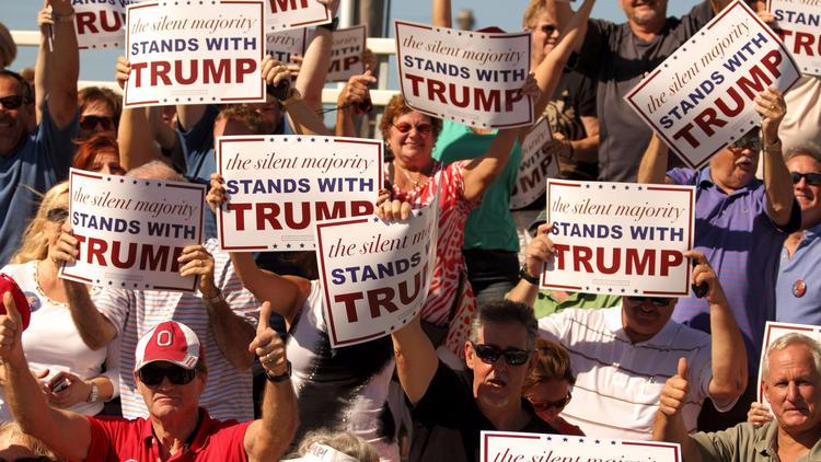 Donald Trump campaigns in Sarasota, Florida, USA