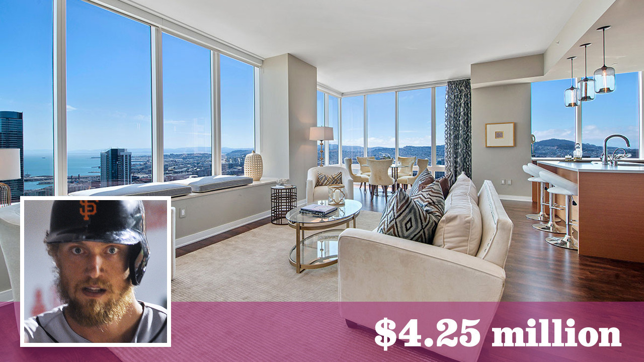 Giants Hunter Pence Trades Up At The Millennium Tower In