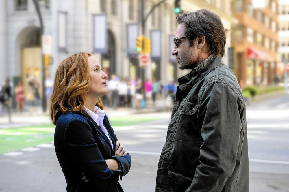 "Gillian Anderson and David Duchovny star in ""The X-Files."" (Ed Araquel / Fox)"