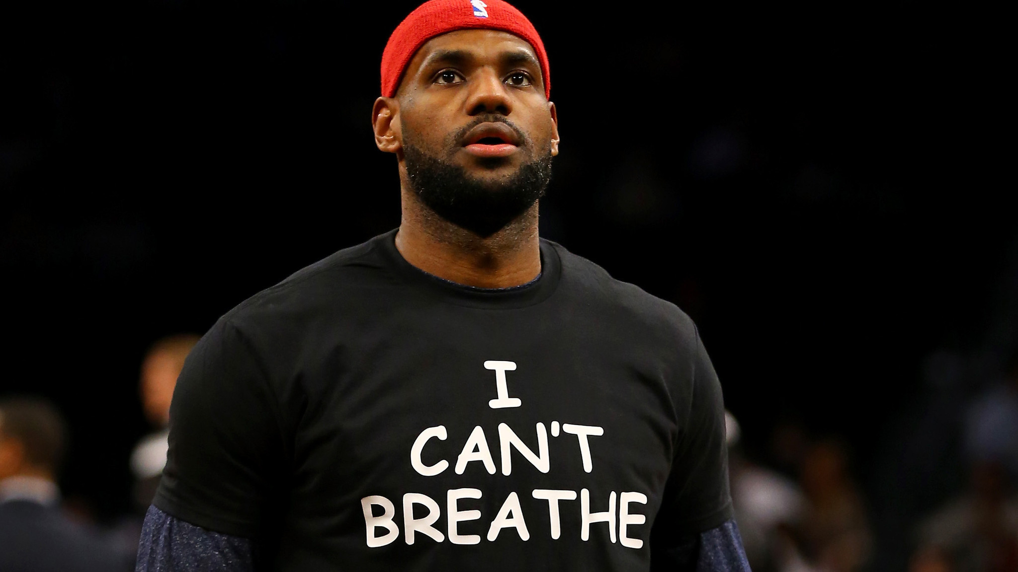 Activists question LeBron James39; position in Tamir Rice protest  LA