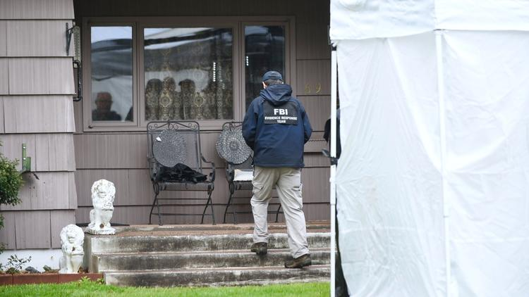Pictures: Law Enforcement Search Robert Gentile's Home