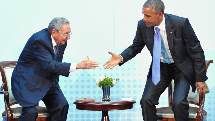 President Obama and Cuban President Raul Castro