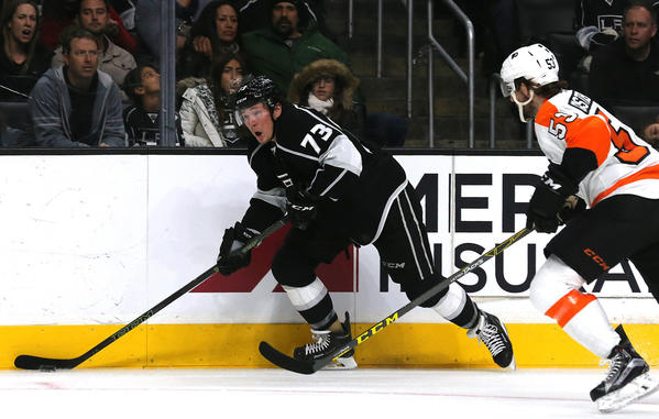 Kings Beat Flyers, 2-1, For Fifth Win A Row And Lead Pacific Division By 12 Points