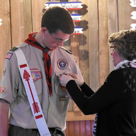 Ryan Rippeon earns Eagle Scout rank months after his father's death