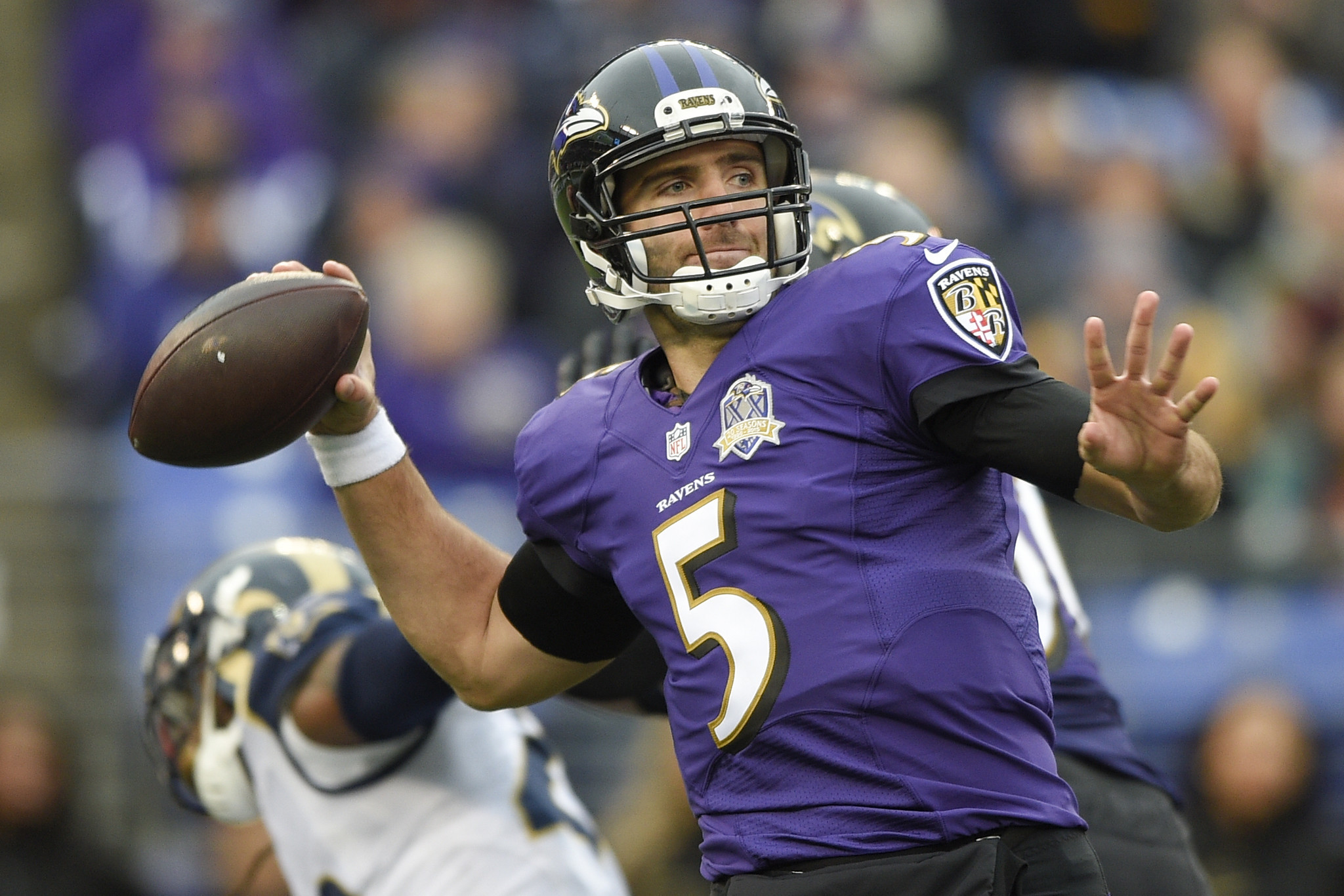 """Joe Flacco 2016 salary cap hit """"probably going to be somewhat of"""