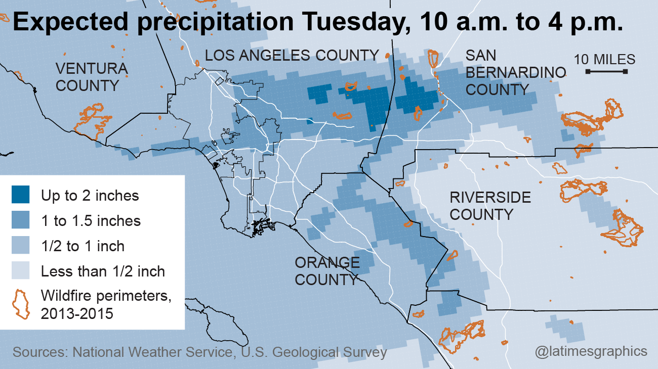 El Niño Hits California These Maps Tell The Story Of Heavy Rains - Los angeles map world