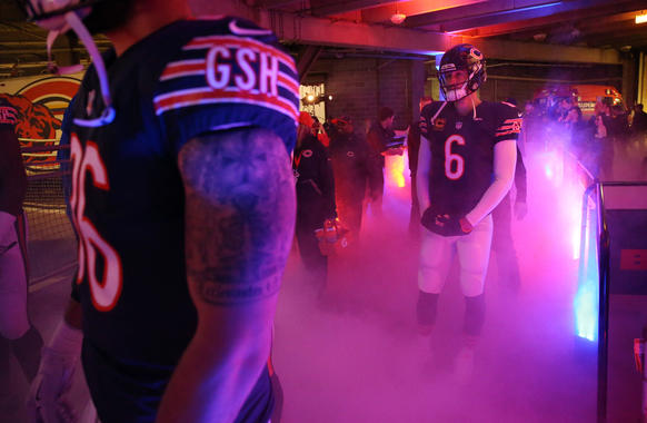 <p>Chicago Bears quarterback Jay Cutler waits to take the field Sunday, Dec. 13, 2015 at Soldier Field. The Chicago Bears fell to the Washington Redskins, 24-21.</p>
