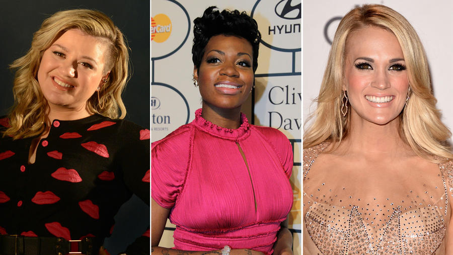 Kelly Clarkson, Fantasia and Carrie Underwood