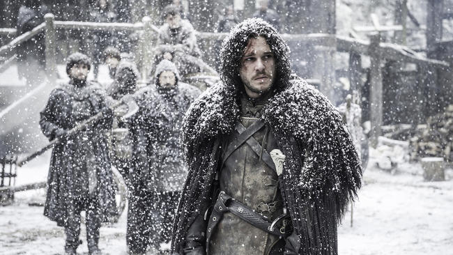 """Kit Harington in """"Game of Thrones,"""" which received 23 nominations. (HBO)"""