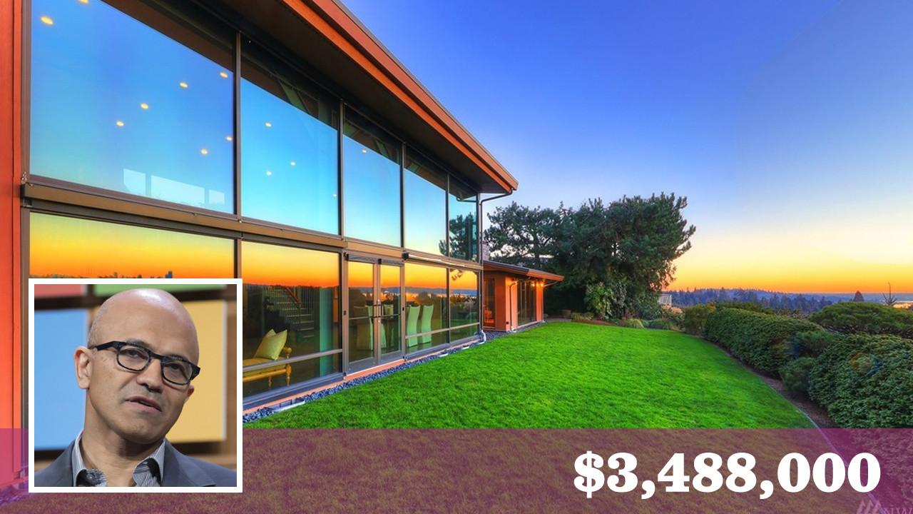Microsoft Ceo Satya Nadella Lists Seattle Area Home For 3