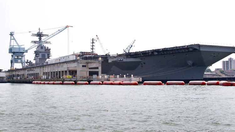 Installation of electrical and fiber optic cable on the Gerald R. Ford ( CVN 78 )
