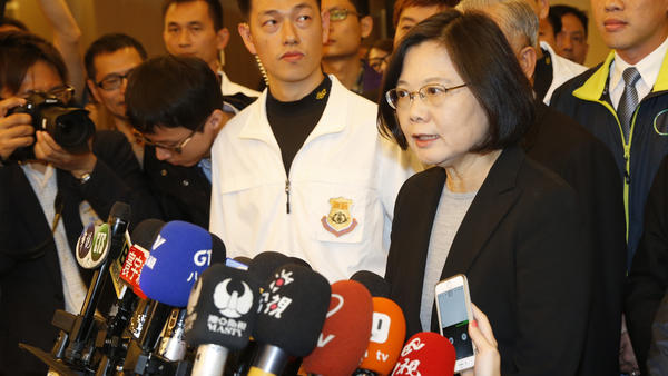 Taiwanese President Tsai Ing-wen. (Wally Santana / Associated Press)