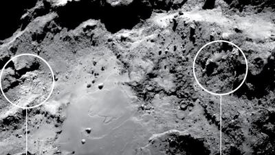 Rosetta spots two types of water ice on the surface of comet 67P