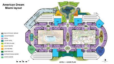 American Dream Miami floor plan - Level 1